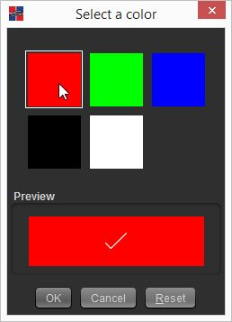 Scorer button color chooser